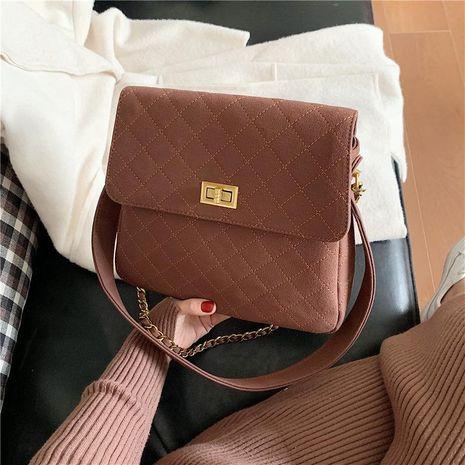 Bolso bandolera pequeña fragancia rómbica bolso bolso de cadena NHTC176714's discount tags
