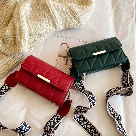 Nueva línea de bordado rómbico bolso de hombro moda casual correa de hombro ancha Bolsa de mensajero tendencia bolso femenino pequeño bolso cuadrado NHXC176750's discount tags