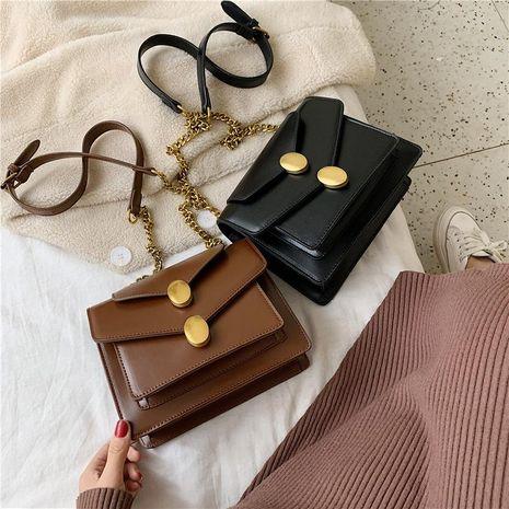 Bolsa mujer nueva moda negro Messenger bag retro hombro cadena pequeña bolsa cuadrada NHXC176759's discount tags
