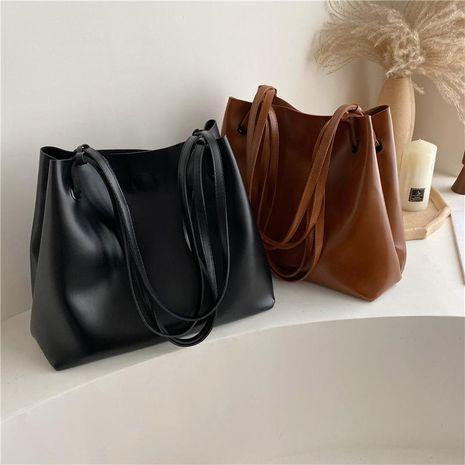 Bolso retro de gran capacidad bolso de hombro negro de la nueva moda femenina NHXC176768's discount tags