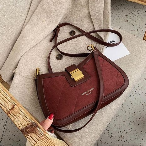 Baguette retro femenino nuevo bolso de mensajero de hombro textura bolso femenino NHXC176765's discount tags