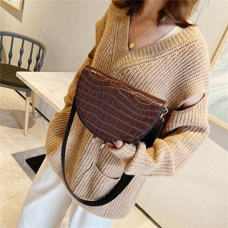 Bolsa mujer nueva moda silla de montar retro popular hombro Messenger bag NHXC176771's discount tags