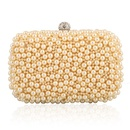 Exquisite dinner bag pearl bag clutch bag fashion crafts gift gold package NHYG176843