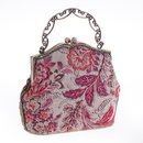 Burlap beaded embroidered bag handbags craft bag ladies bag classical beaded bag NHYG176853