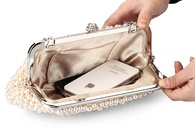 Fashion Pearl Bag Polyester Beaded Bags Crossbody Small Square Bag with Diamond Dinner Bag NHYG176866