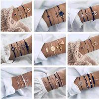 Pulsera Set Personalidad Star Moon Geometric Bracelet al por  mayor de moda NHJE183366