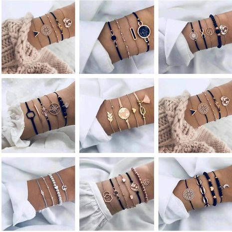 Bracelet Set Personality Star Moon Geometric Bracelet wholesales fashion NHJE183366's discount tags