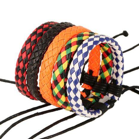 Bracelet en cuir pour filles Multi couleur en option PU Simple Bracelet tissé anti-cuir Bracelet Bracelet en gros mode NHPK183349's discount tags