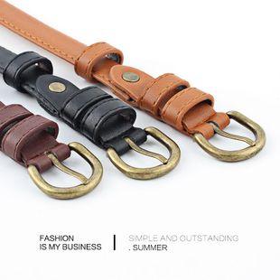Ladies belt pin buckle Korean student dress fine pants belt decorative tide belt NHPO183184's discount tags