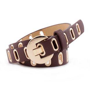 Casual PU Leather Belt Women Jeans Fashion Decorative Belt Corn Eye Belt Wholesale NHPO183186's discount tags