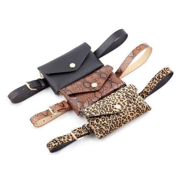 2019 Snakeskin Waist Bag Women's Casual Wear with Diagonal Chain Belt Belt Women Belt NHPO183188