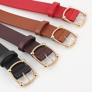 Factory Outlet Noah's New Personality Buckle Ladies Fashion 100 Dress Dress Belt Women Origin NHPO183198's discount tags