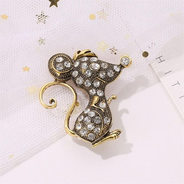 New creative retro mouse brooch personality jacket scarf pin men and women collar pin buckle NHDP183316