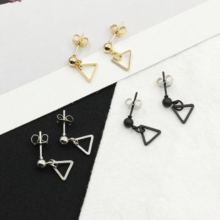 Simple new earrings triangle delicate women jewelry earrings wholesale NHDP183317's discount tags