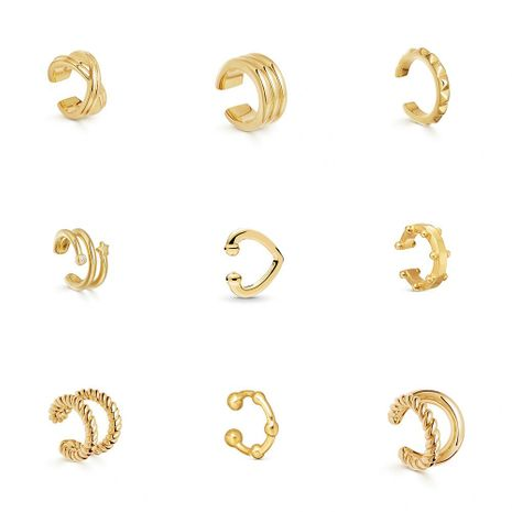 Popular earrings C-type alloy pierced ear clips fashion simple earrings NHLL183202's discount tags