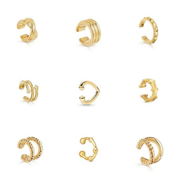 Popular earrings C-type alloy pierced ear clips fashion simple earrings NHLL183202