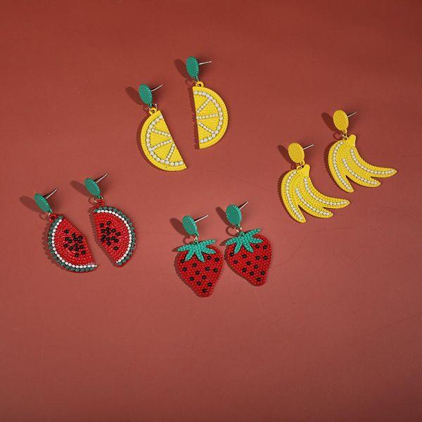 Alloy spray fruit earrings female sweet earrings wholesale NHLL183209