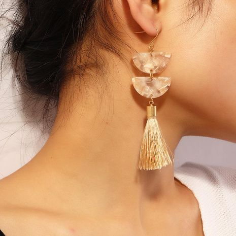 Bijoux Mode Creative Géométrique Acétate Plaque Boucles D'oreilles Simple Long Gland Boucles D'oreilles NHNZ183336's discount tags