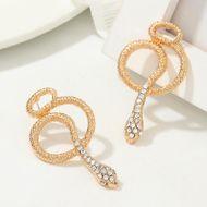 Jewelry Metal Cobra Earrings Creative Pop Snake Stud Earrings NHNZ183339