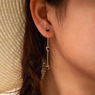 New butterfly long earrings simple alloy black butterfly earrings women NHGY183407's discount tags