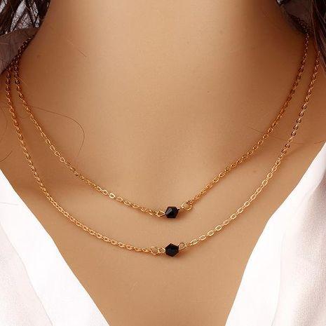 Chaîne de clavicule double couche courte chaîne de clavicule seau perles collier de chaîne de clavicule NHPJ183222's discount tags