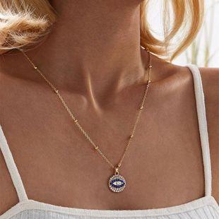 Fashion simple geometric necklace devil's eye item wholesales fashion NHKQ183276's discount tags