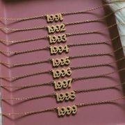 Fashion item vintage retro vintage necklace birthday number pendant wholesales fashion NHNZ183332
