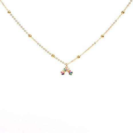 Crystal Rainbow Collar Mujer Color salvaje Diamante Cadena de clavícula Hueco Medio anillo Collar de moda NHPY183163's discount tags