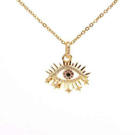 Collar de ojo azul turco de ojo de diablo Moda creativa Collar de circón de moda NHPY183173's discount tags