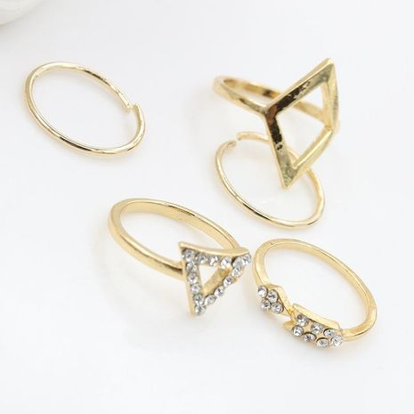 Moda Diamante Flecha Diamante Triángulo Conjunto 5 Conjunto de cinco piezas Anillo Joyería NHDP183309's discount tags
