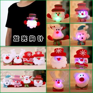 Christmas decoration supplies glowing brooch Christmas gifts wholesale NHMV183215's discount tags