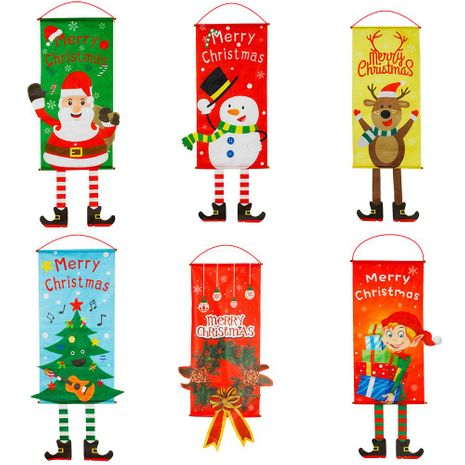 New Christmas decorations fabric hanging legs dress hanging fabric NHHB183212's discount tags