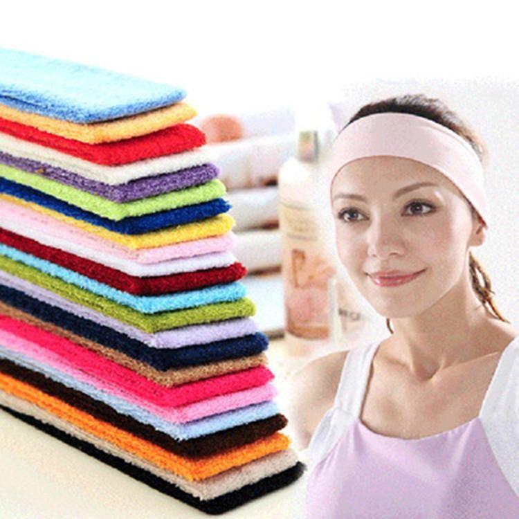 Serviette hommes et femmes coton absorbant la sueur bandeau cheveux bande lavage visage coton bandeau cheveux bande NHOF183358