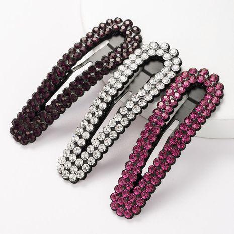 Juego de pinzas para el cabello geométricas de diamantes de imitación de aleación de moda para adultos BB clip de horquilla de tres piezas NHJE183373's discount tags