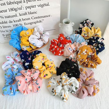 New hair ring fashion chiffon hair ring fabric floral flower ring large intestine ring female hair accessories NHOF183354's discount tags