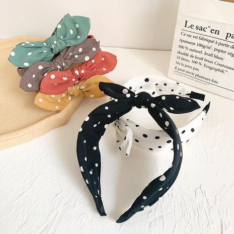 Headband student girl wild headband bow wide-edged headband hair accessories NHOF183362's discount tags