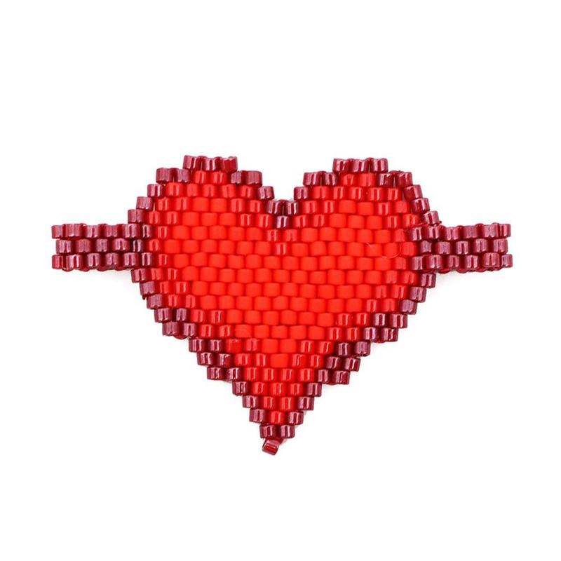 New Love Pattern Miyuki Woven Beaded Jewelry Accessories NHGW185562