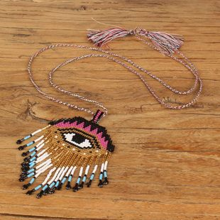 Bohemian Vintage Eyes Hot Necklace NHGW185589's discount tags
