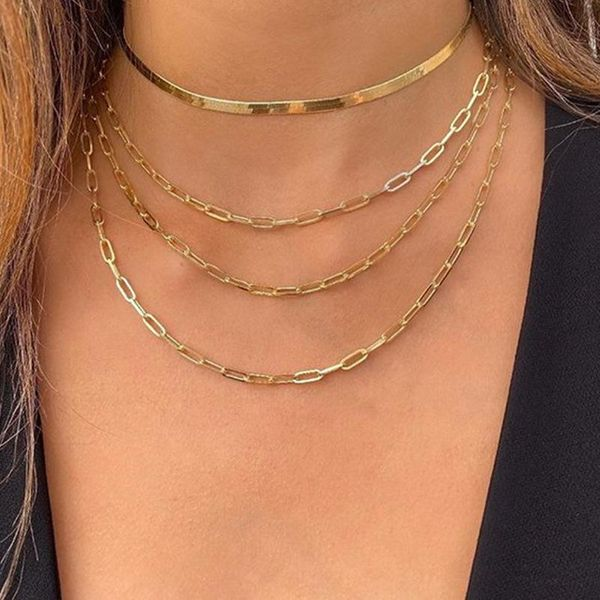Jewelry New Retro Multi-layer Mash-up Chain Necklace Hip-hop Level item Wholesale NHNZ185908