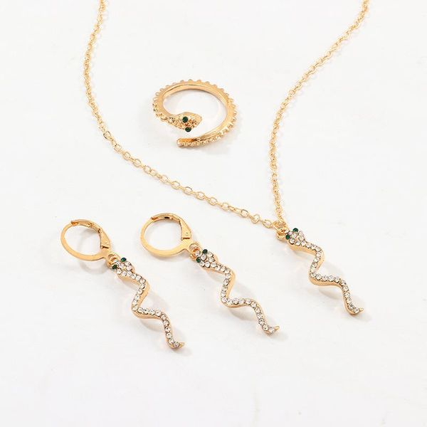 Jewelry Snake Earring Fashion Snake Necklace Ring Set NHNZ185935