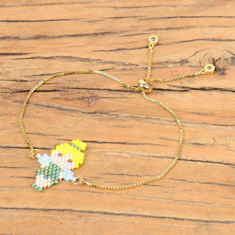 Womens Bracelet Miyuki Mizu Knitted Elf Gold Plated Color Preservation NHGW185564