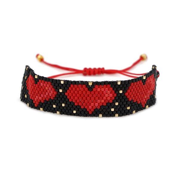 New love bracelet Miyuki hand-woven love rope friendship beads NHGW185586