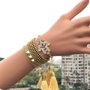 Miyuki woven rice beads inatagram famatty palm eyes women bracelet jewelry NHGW185610's discount tags