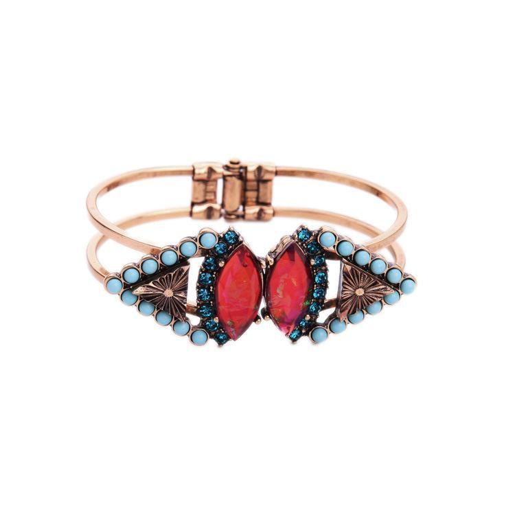 Fashion Jewelry Wholesale Vintage Diamond Flower Wild Women's Bangle NHQD185975