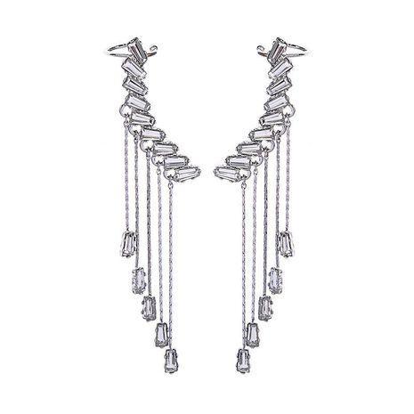 Long Earring Fashion Korean Crystal Pendant Earrings Wild Tassel Earrings NHQD185960's discount tags