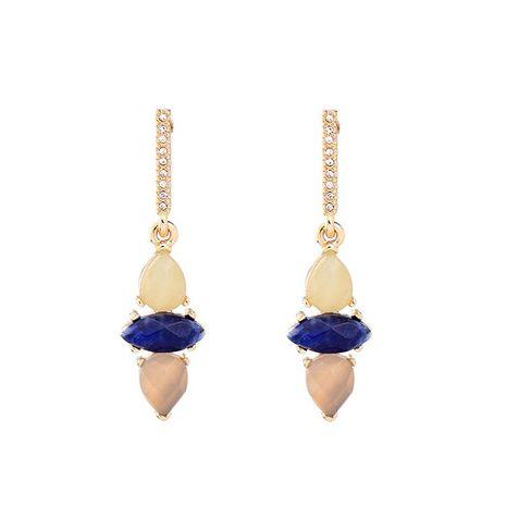 Earrings women retro accessories ladies water drop gemstone earrings wholesale NHQD185974's discount tags