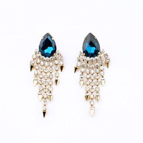 Fashion Jewelry Wholesale New Alloy Tassel Water Drop Diamond Lady Stud Earrings NHQD185977's discount tags