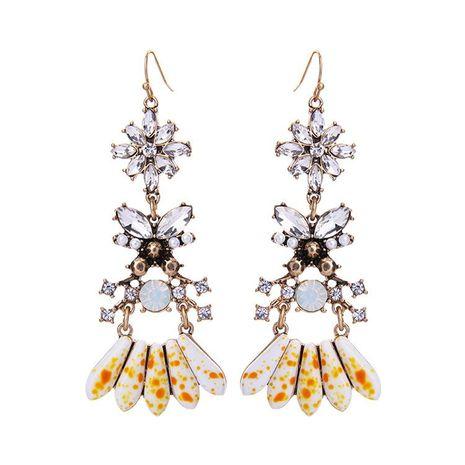 Women's Long Cut Earrings with Diamonds NHQD185953's discount tags