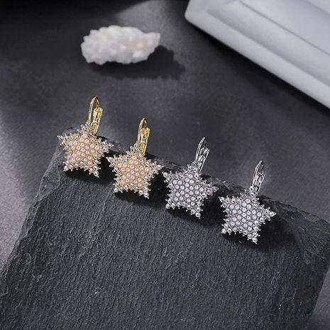 New crystal diamond earrings pearl earrings wild star earrings women NHQD185964's discount tags