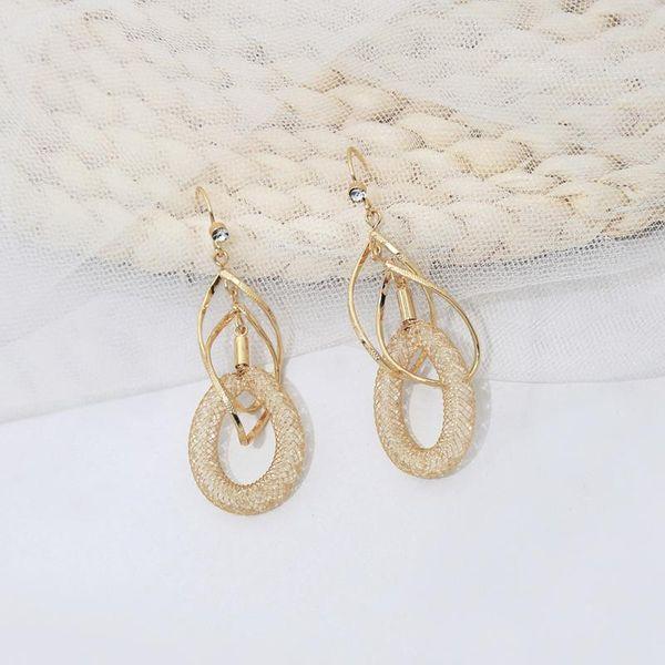 Geometric alloy earrings diamond stud earrings women wild hoop earrings NHQD185967